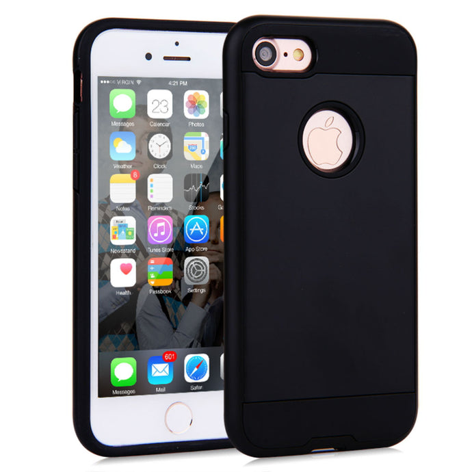Brush Hybrid Tough Armor Heavy Duty Case For Apple iPhone 5 or 5s - BingBongBoom