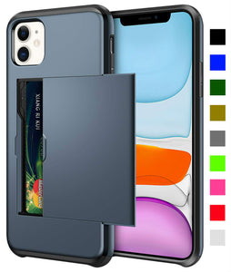 Card Slot Tough Armor Wallet Design Case Apple iPhone 12 Mini / 12 / 12 Pro / 12 Pro Max