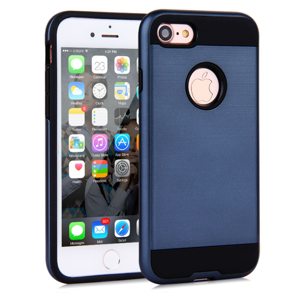 Brush Hybrid Tough Armor Heavy Duty Case Apple iPhone 6 or 6 Plus