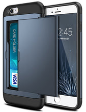 Load image into Gallery viewer, Card Slot Tough Armor Wallet Design Case Apple iPhone 5 or 5s - BingBongBoom