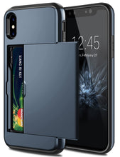 Load image into Gallery viewer, Card Slot Tough Armor Wallet Design Case Apple iPhone X / XS / XR / XS Max - BingBongBoom