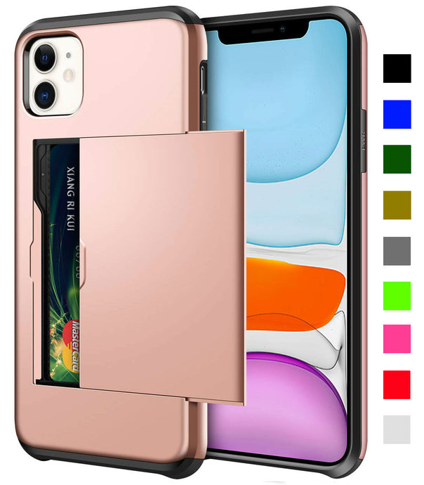 Card Slot Tough Armor Wallet Design Case Apple iPhone 11 / 11 Pro / 11 Pro Max - BingBongBoom