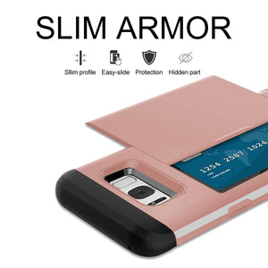 Card Slot Tough Armor Wallet Design Case Samsung Galaxy S7 or S7 Edge - BingBongBoom