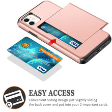 Load image into Gallery viewer, Card Slot Tough Armor Wallet Design Case Apple iPhone 11, 11 Pro, or 11 Pro Max - BingBongBoom