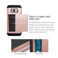 Load image into Gallery viewer, Card Slot Tough Armor Wallet Design Case Samsung Galaxy Note 8 - BingBongBoom