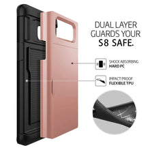 Load image into Gallery viewer, Card Slot Tough Armor Wallet Design Case Samsung Galaxy S10 / S10 Plus / S10 Edge - BingBongBoom