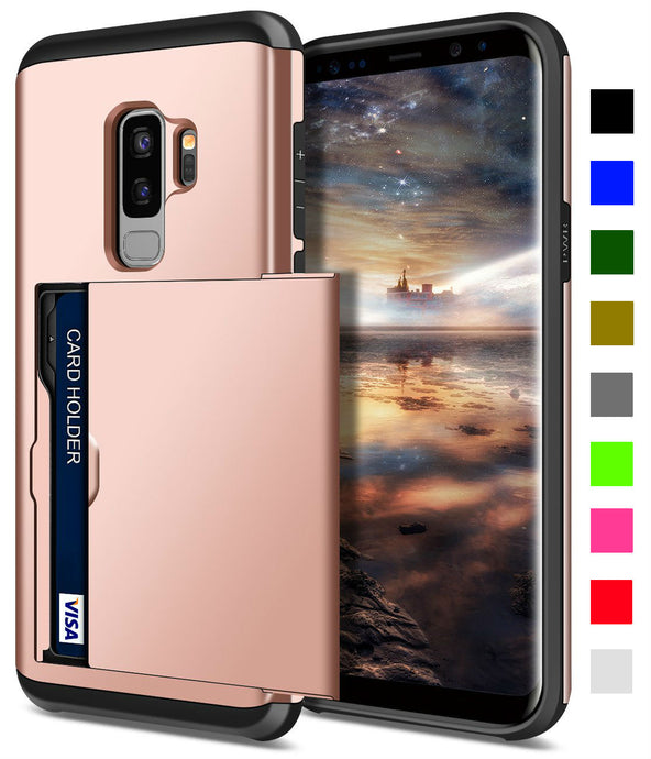 Card Slot Tough Armor Wallet Design Case Samsung Galaxy S9 or S9 Plus - BingBongBoom