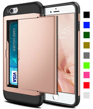 Load image into Gallery viewer, Card Slot Tough Armor Wallet Design Case Apple iPhone 8 or 8 Plus - BingBongBoom