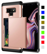 Load image into Gallery viewer, Card Slot Tough Armor Wallet Design Case Samsung Galaxy Note 9 - BingBongBoom
