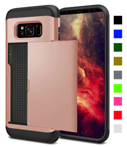 Card Slot Tough Armor Wallet Design Case Samsung Galaxy Note 8 - BingBongBoom
