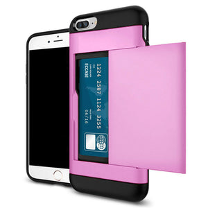Card Slot Tough Armor Wallet Design Case Apple iPhone 5 or 5s - BingBongBoom