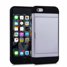 Load image into Gallery viewer, Card Slot Tough Armor Wallet Design Case Apple iPhone SE - BingBongBoom