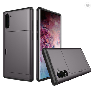 Card Slot Tough Armor Wallet Design Case Samsung Galaxy Note 10 or Note 10 Plus - BingBongBoom
