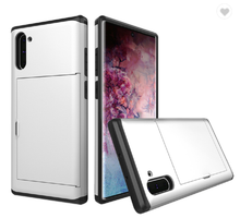 Load image into Gallery viewer, Card Slot Tough Armor Wallet Design Case Samsung Galaxy Note 10 or Note 10 Plus - BingBongBoom