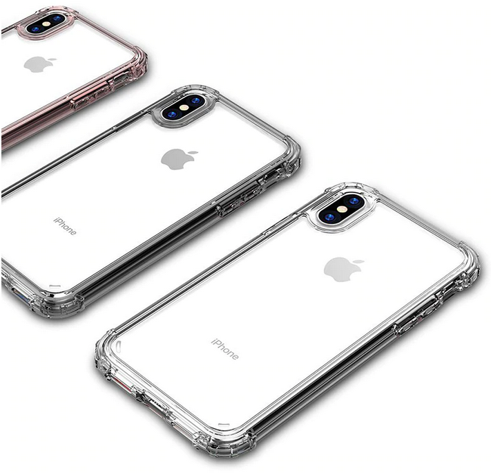 Rugged Edges Transparent Silicone Gel Case Cover Apple iPhone X, XS, XR, or XS Max