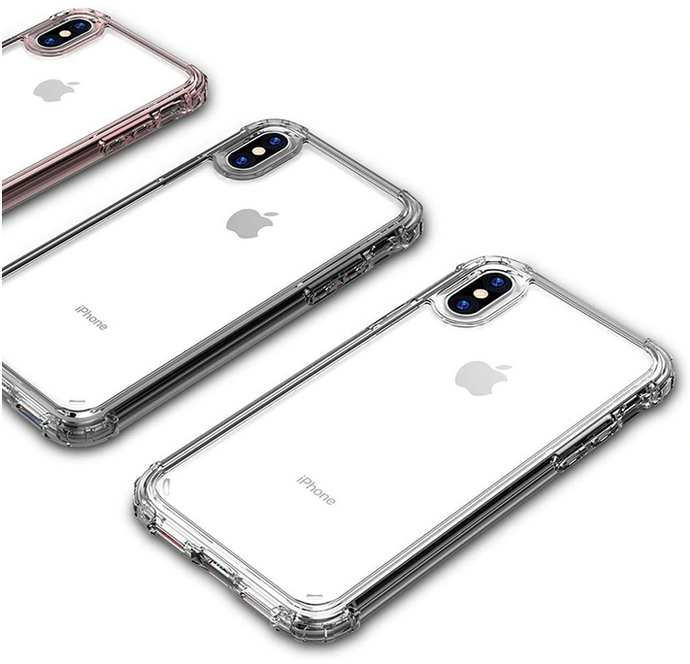 Rugged Edges Transparent Silicone Gel Case Cover Apple iPhone X, XS, XR, or XS Max - BingBongBoom