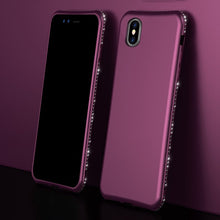 Load image into Gallery viewer, Bling Diamond Shiny Bumper Soft Silicon Case Apple iPhone X / XS / XR / XS Max - BingBongBoom