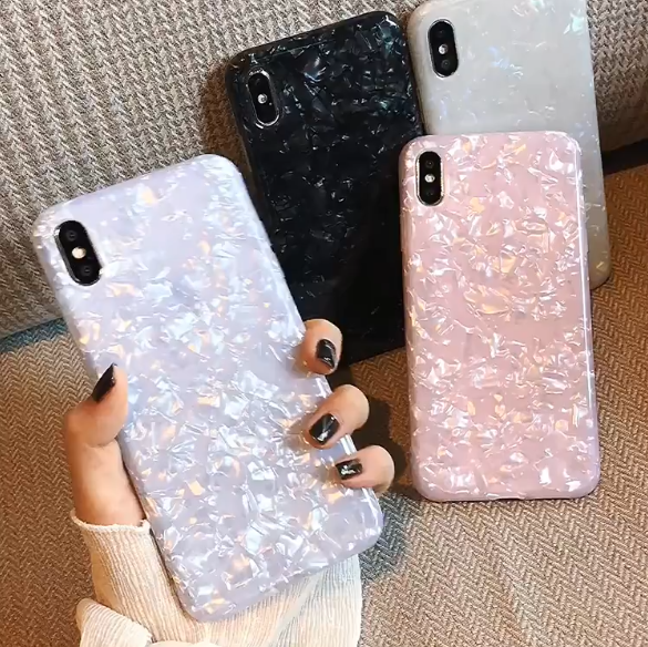 Shimmer Opalescent Print Pattern Jewel Series Hard Case iPhone X / XS / XR / XS Max - BingBongBoom