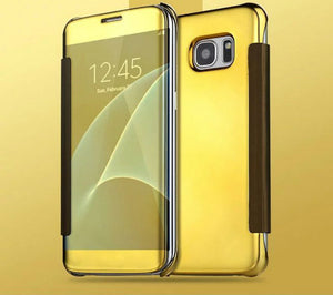 Electroplating Clear View Mirror Case Samsung Galaxy S6 Edge or S6 Edge Plus - BingBongBoom