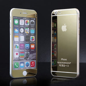 Apple iPhone 5 or 5s Front and Back Colored Mirror Tempered Glass Screen Protector - BingBongBoom