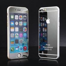 Load image into Gallery viewer, Apple iPhone 5 or 5s Front and Back Colored Mirror Tempered Glass Screen Protector - BingBongBoom