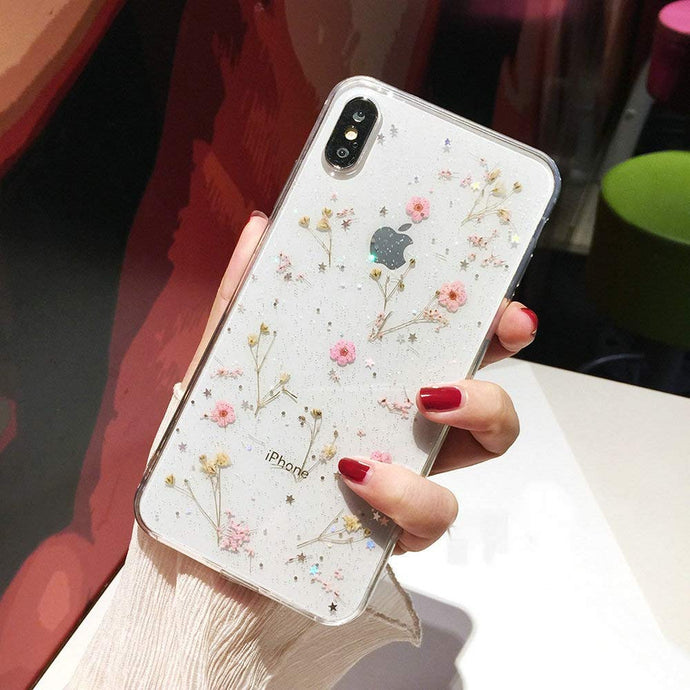 Floral Print Pattern Soft Rubber Case Cover Apple iPhone X, XS, XR, or XS Max - BingBongBoom
