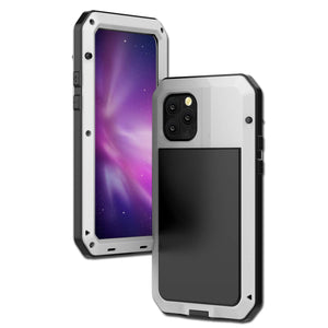 Gorilla Glass Aluminum Alloy Heavy Duty Shockproof Case Apple iPhone 11, 11 Pro or 11 Pro Max - BingBongBoom