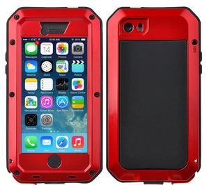 Gorilla Glass Aluminum Alloy Heavy Duty Shockproof Case Apple iPhone 8 or 8 Plus - BingBongBoom