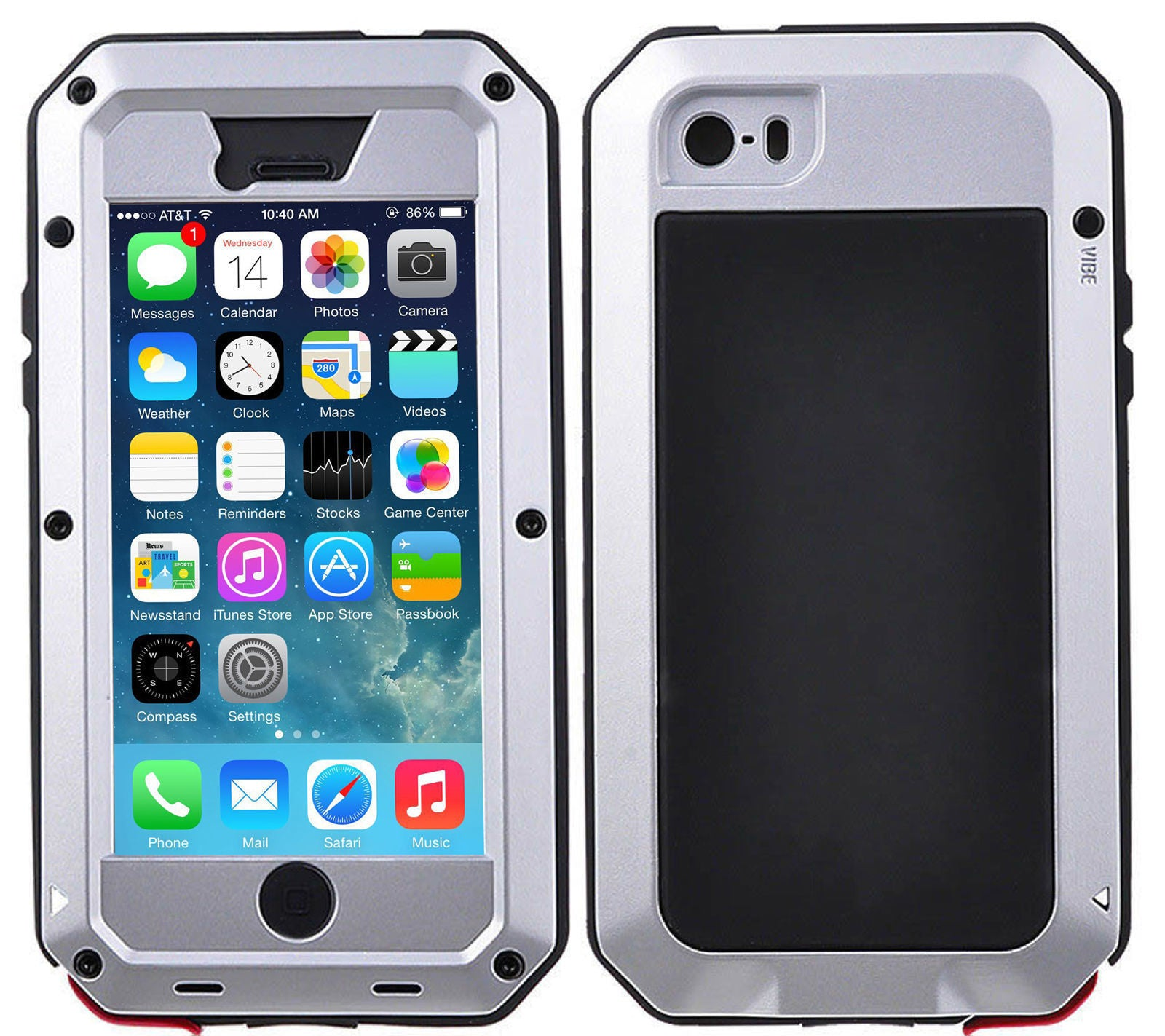Gorilla Glass Aluminum Alloy Heavy Duty Shockproof Case Apple iPhone 6 or 6 Plus