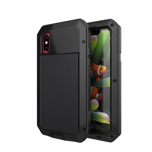Gorilla Glass Aluminum Alloy Heavy Duty Shockproof Case Apple iPhone X, XS, XR, or XS Max - BingBongBoom