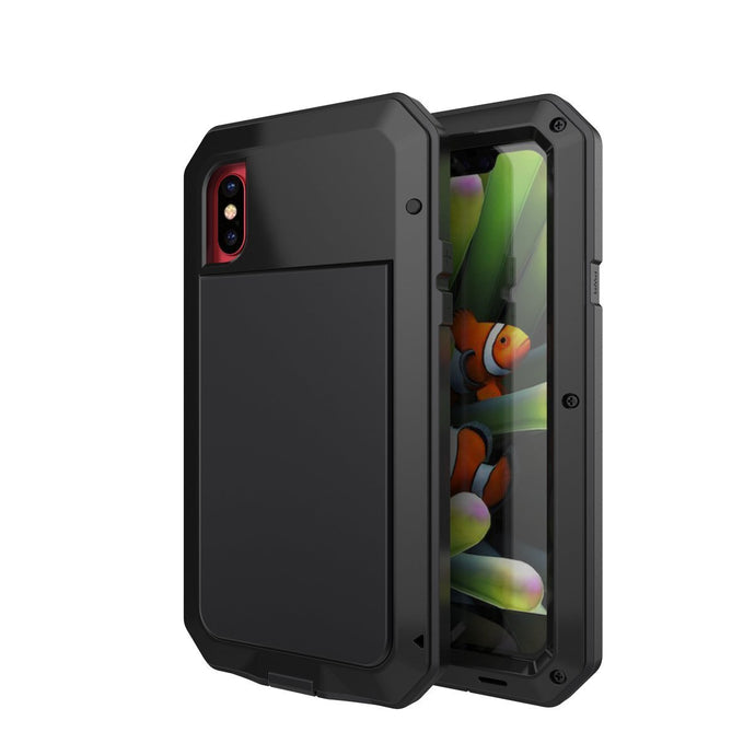 Gorilla Glass Aluminum Alloy Heavy Duty Shockproof Case For Apple iPhone X, XS, XR, or XS Max - BingBongBoom