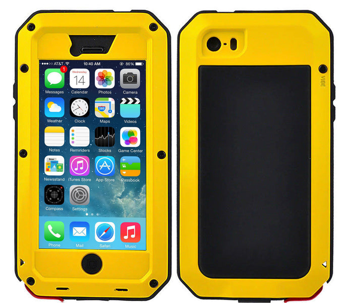 Gorilla Glass Aluminum Alloy Heavy Duty Shockproof Case For Apple iPhone 5 or 5s - BingBongBoom