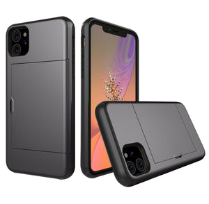 Card Slot Tough Armor Wallet Design Case Apple iPhone 11, 11 Pro, or 11 Pro Max - BingBongBoom