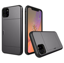 Load image into Gallery viewer, Card Slot Tough Armor Wallet Design Case Apple iPhone 12 Mini / 12 / 12 Pro / 12 Pro Max