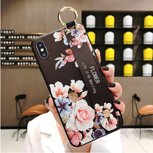 Load image into Gallery viewer, Leather Grip Stand Blossom Series Case Apple iPhone 8 or 8 Plus - BingBongBoom
