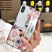 Load image into Gallery viewer, Leather Grip Stand Blossom Series Case Apple iPhone X, XS, XR, or XS Max - BingBongBoom