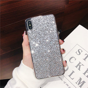 Glitter Bling Diamond Soft Rubber Case Cover Apple iPhone X, XS, XR, or XS Max - BingBongBoom
