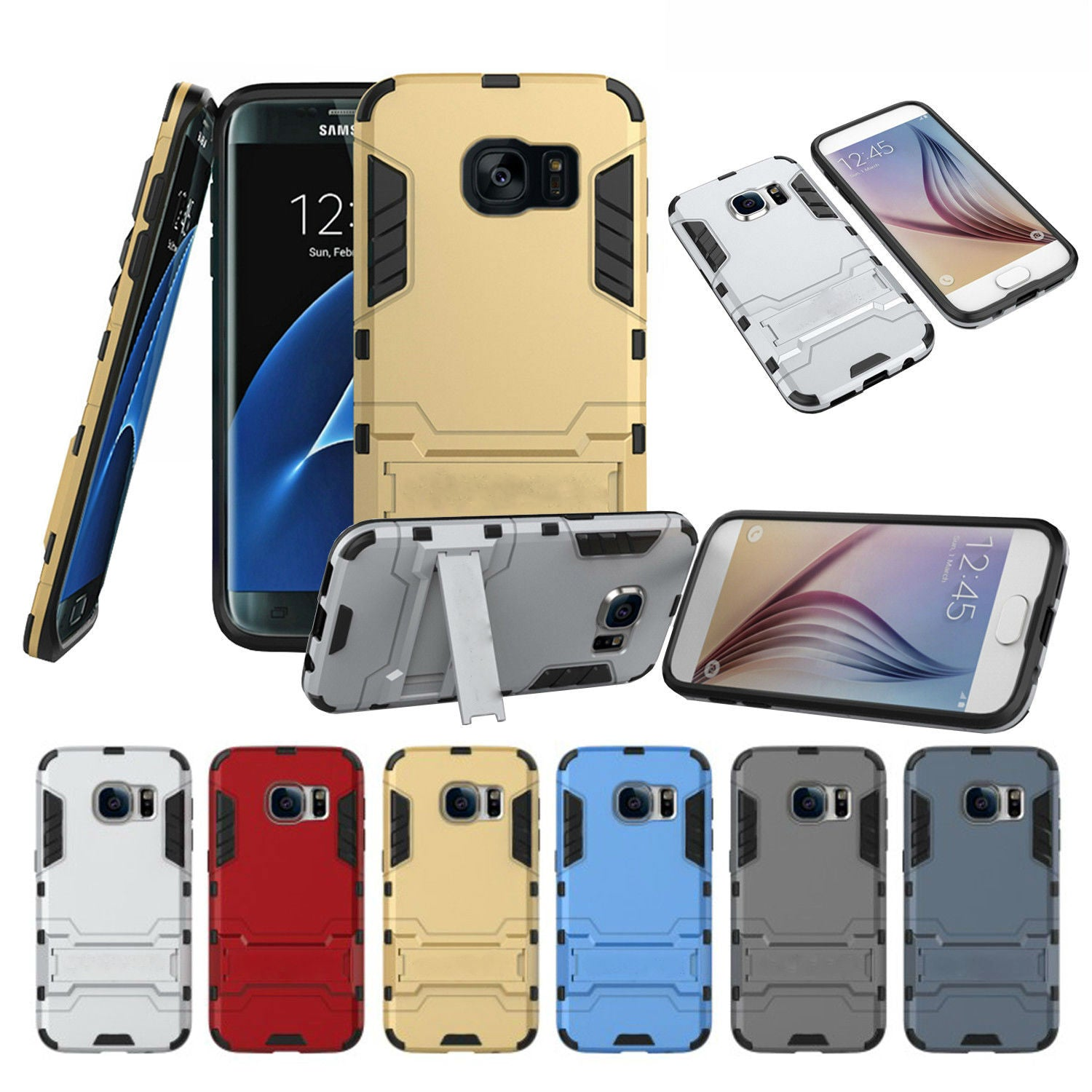 Kickstand Dual Layer Case Samsung Galaxy S6 Edge or S6 Edge Plus