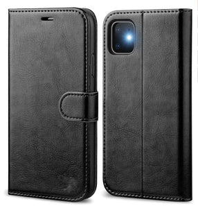 Leather Wallet Magnetic Flip Case with strap Apple iPhone 11 Pro, 11, or 11 Pro Max - BingBongBoom
