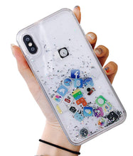 Load image into Gallery viewer, Liquid Glitter App Icons Bling Quicksand Case iPhone 7 or 7 Plus - BingBongBoom
