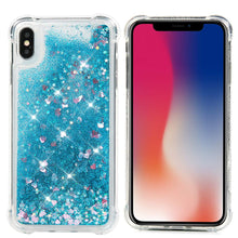 Load image into Gallery viewer, Liquid Glitter Heart Shapes Bling Quicksand Case iPhone X / XS / XR / XS Max - BingBongBoom
