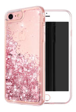 Load image into Gallery viewer, Liquid Glitter Heart Shapes Bling Quicksand Case iPhone 7 or 7 Plus - BingBongBoom