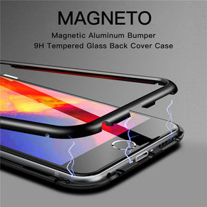 Magnetic Adsorption Metal Case With Tempered Glass Apple iPhone SE 2020 (Gen2) - BingBongBoom