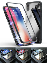 Load image into Gallery viewer, Magnetic Adsorption Metal Case With Tempered Glass Apple iPhone X, XS, XR, or XS Max - BingBongBoom