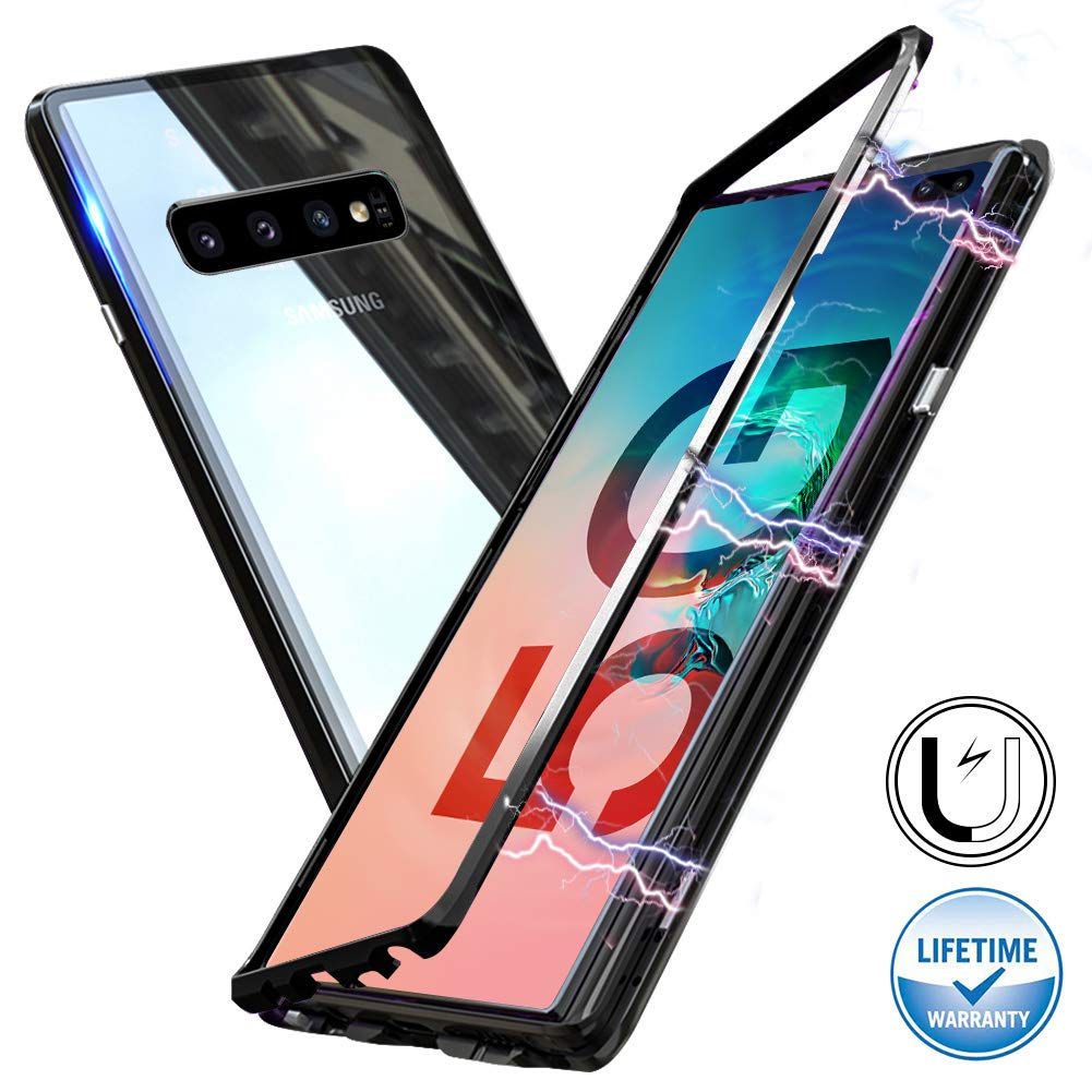 Magnetic Adsorption Metal Case With Tempered Glass Samsung Galaxy S8 or S8 Plus