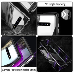 Magnetic Adsorption Metal Case With Tempered Glass Samsung Galaxy S8 or S8 Plus - BingBongBoom