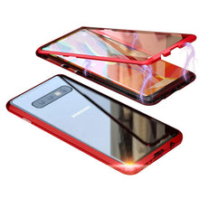 Load image into Gallery viewer, Magnetic Adsorption Metal Case With Tempered Glass Samsung Galaxy Note 9 - BingBongBoom