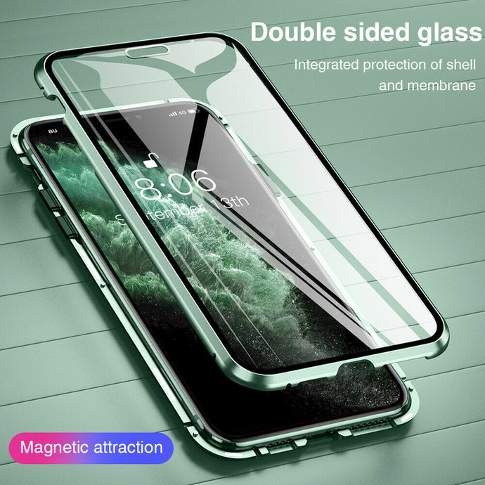 360° Magnetic Metal Double-Sided Glass Case Apple iPhone 12 Mini / 12 / 12 Pro / 12 Pro Max