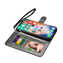 Load image into Gallery viewer, Leather Wallet Magnetic Flip Case with strap Samsung Galaxy S9 or S9 Plus - BingBongBoom