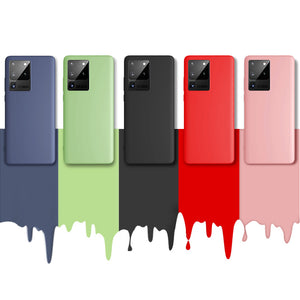 Soft Gel Liquid Silicone Shock Proof Case Cover Samsung Galaxy S20 / S20 Plus / S20 Ultra